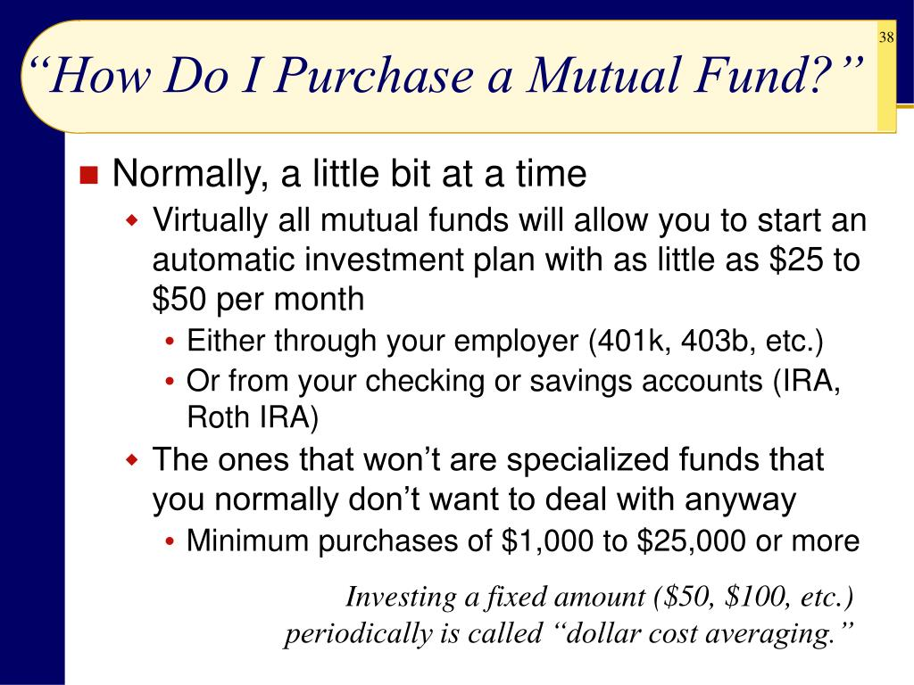 """How Do I Purchase a Mutual Fund?"""