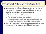 investment alternatives annuities