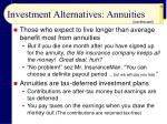 investment alternatives annuities28