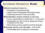 investment alternatives bonds