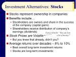 investment alternatives stocks