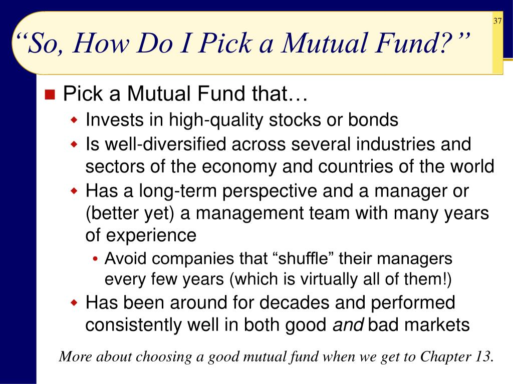 """So, How Do I Pick a Mutual Fund?"""