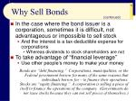 why sell bonds50