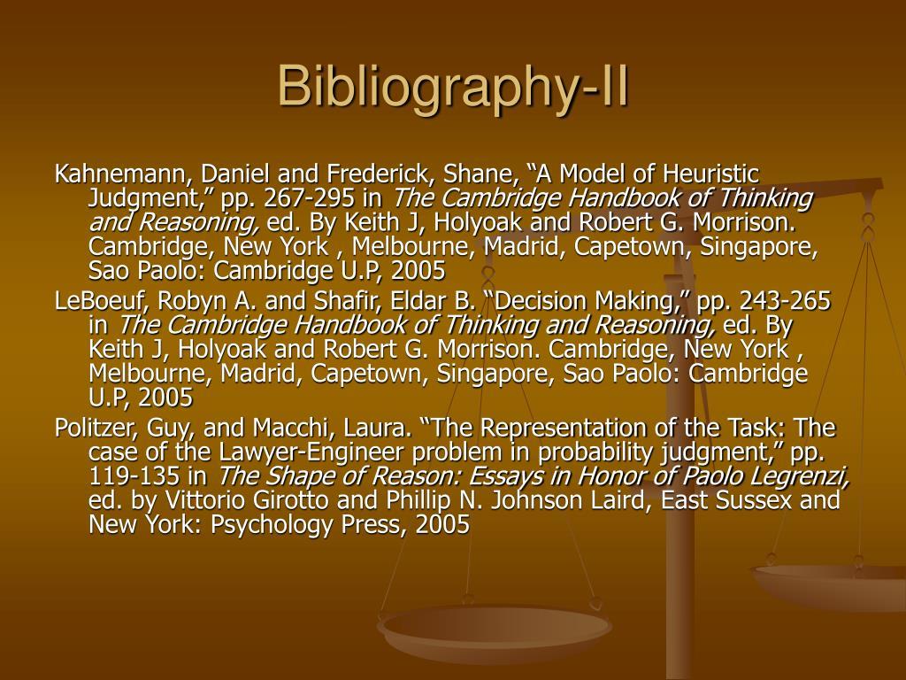 Bibliography-II