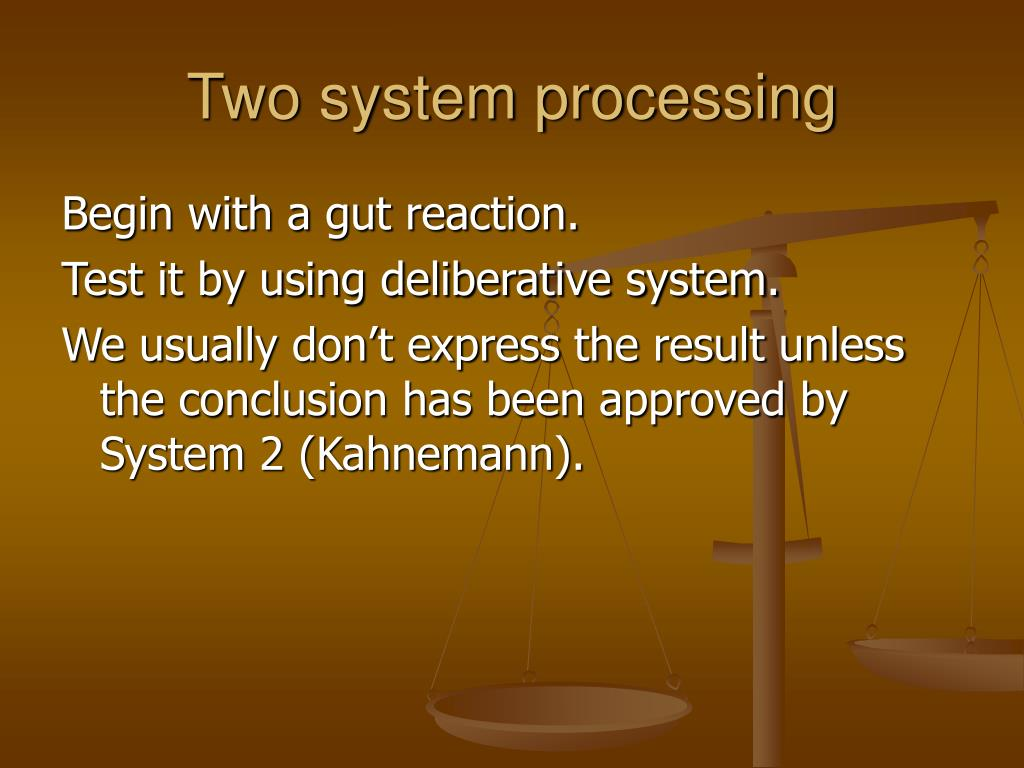 Two system processing