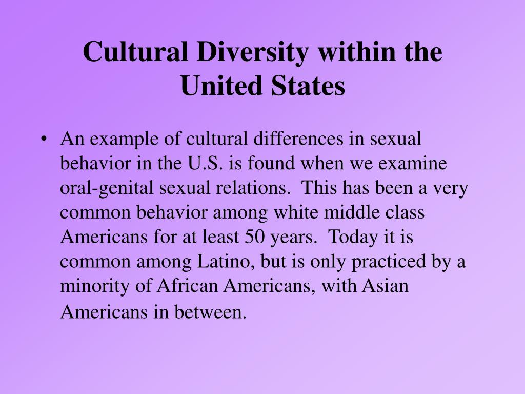 Cultural Diversity within the United States