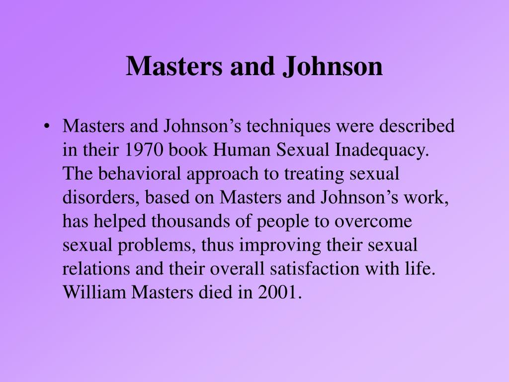 Masters and Johnson