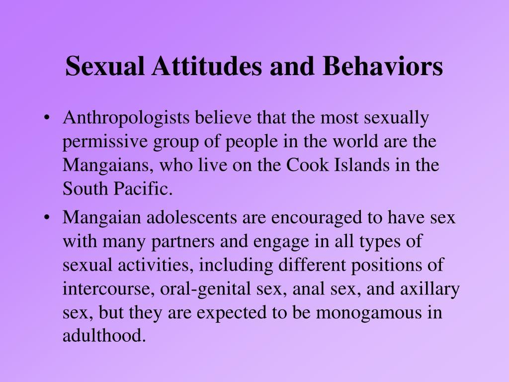 Sexual Attitudes and Behaviors