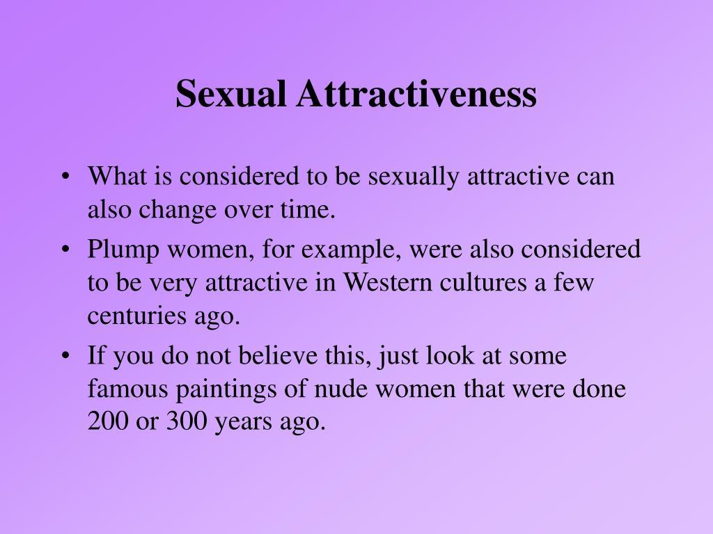 Sexual Attractiveness