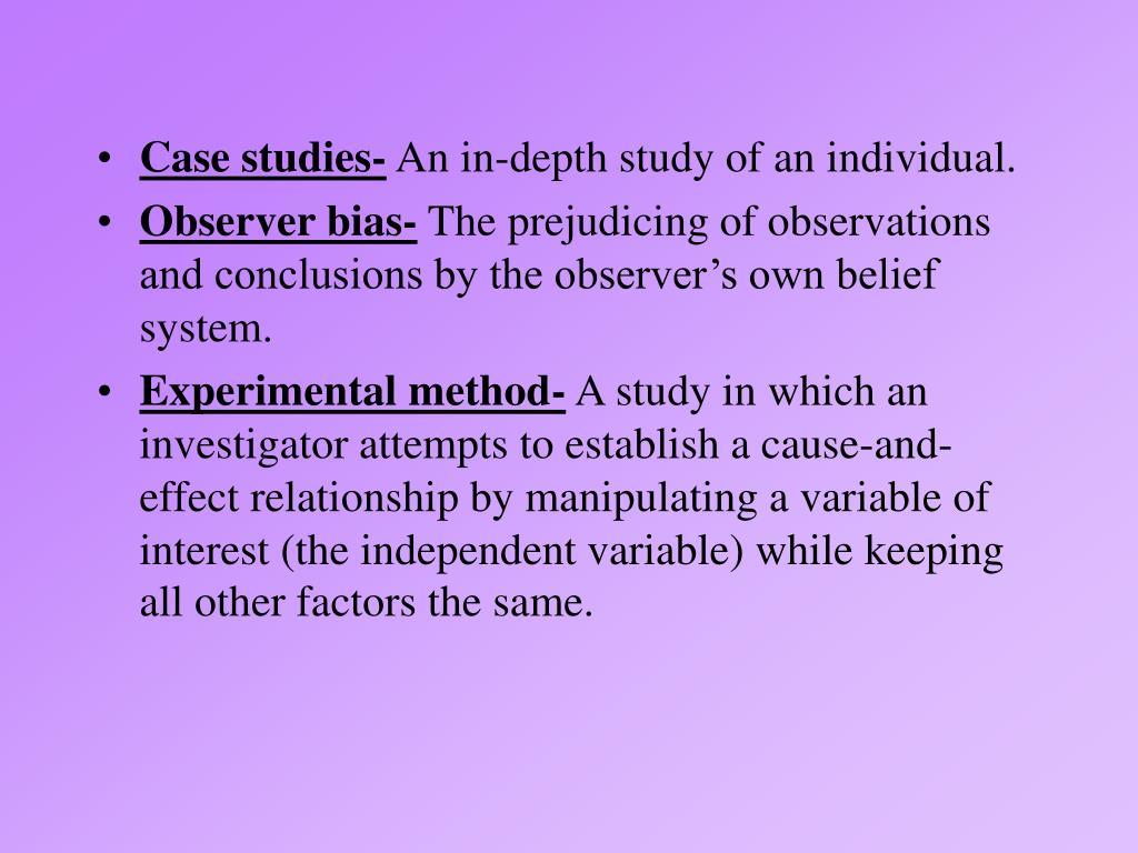 Case studies-