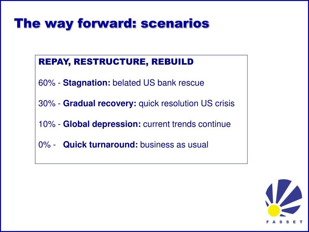 The way forward: scenarios