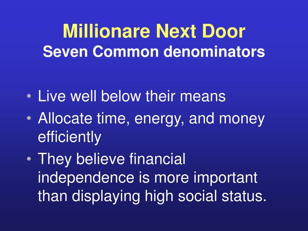 Millionare Next Door