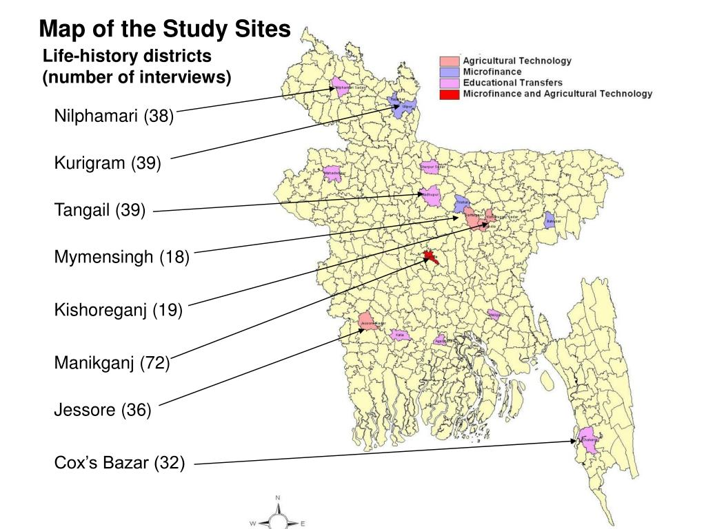 Map of the Study Sites