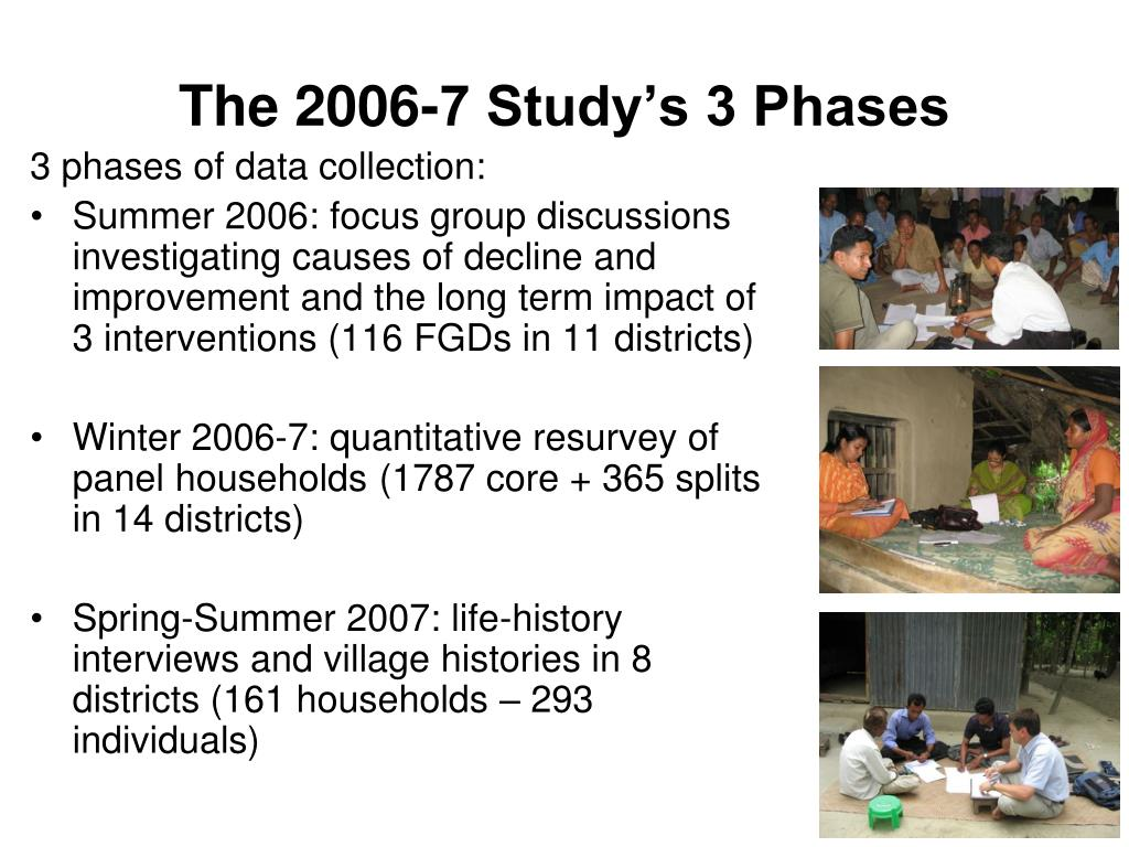 The 2006-7 Study's 3 Phases