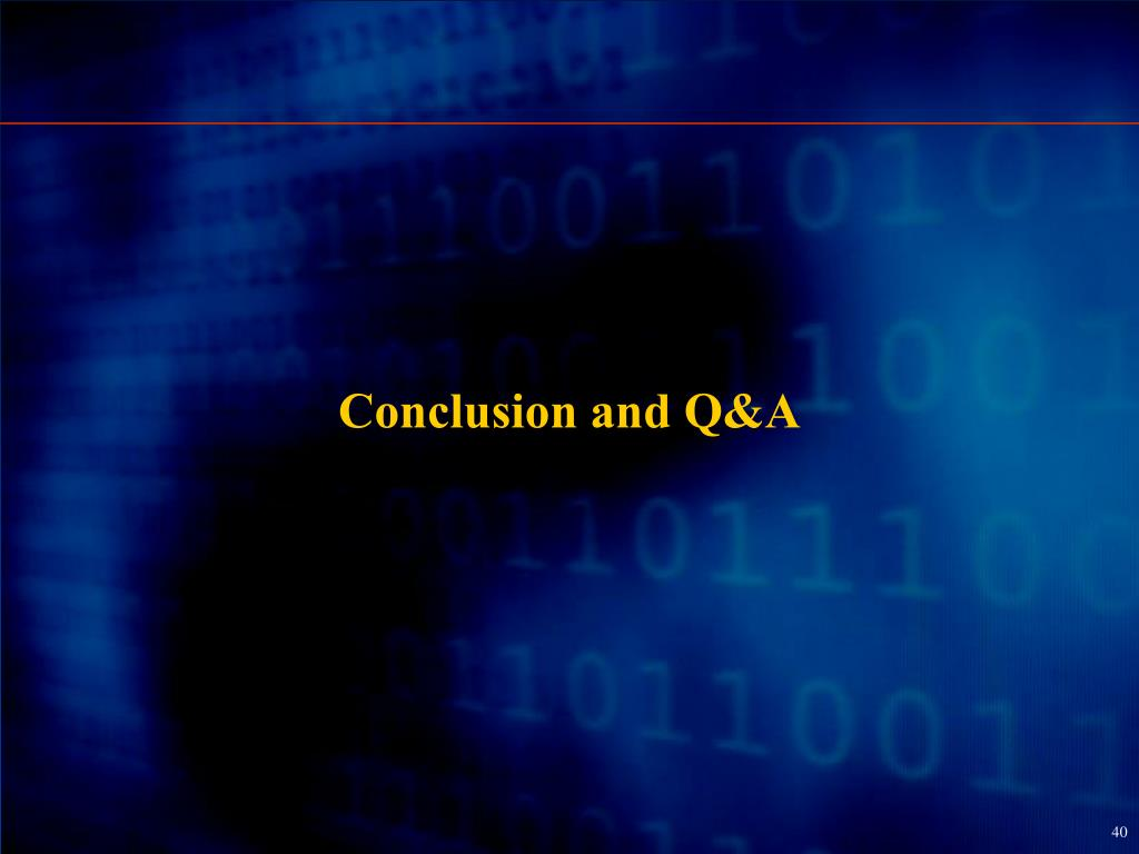 Conclusion and Q&A