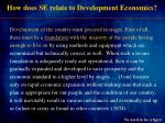 how does se relate to development economics