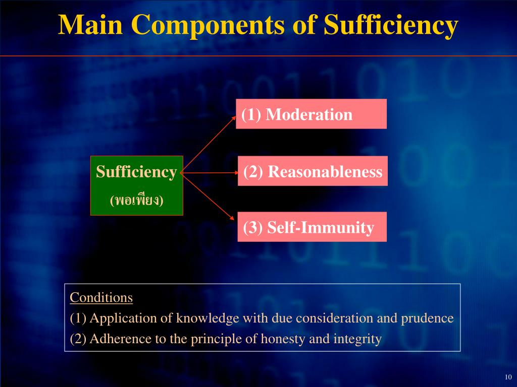 Main Components of Sufficiency