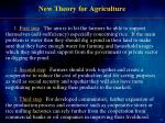new theory for agriculture
