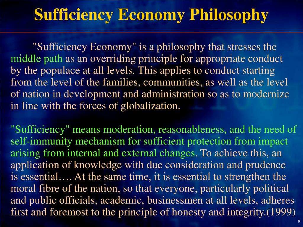 Sufficiency Economy Philosophy