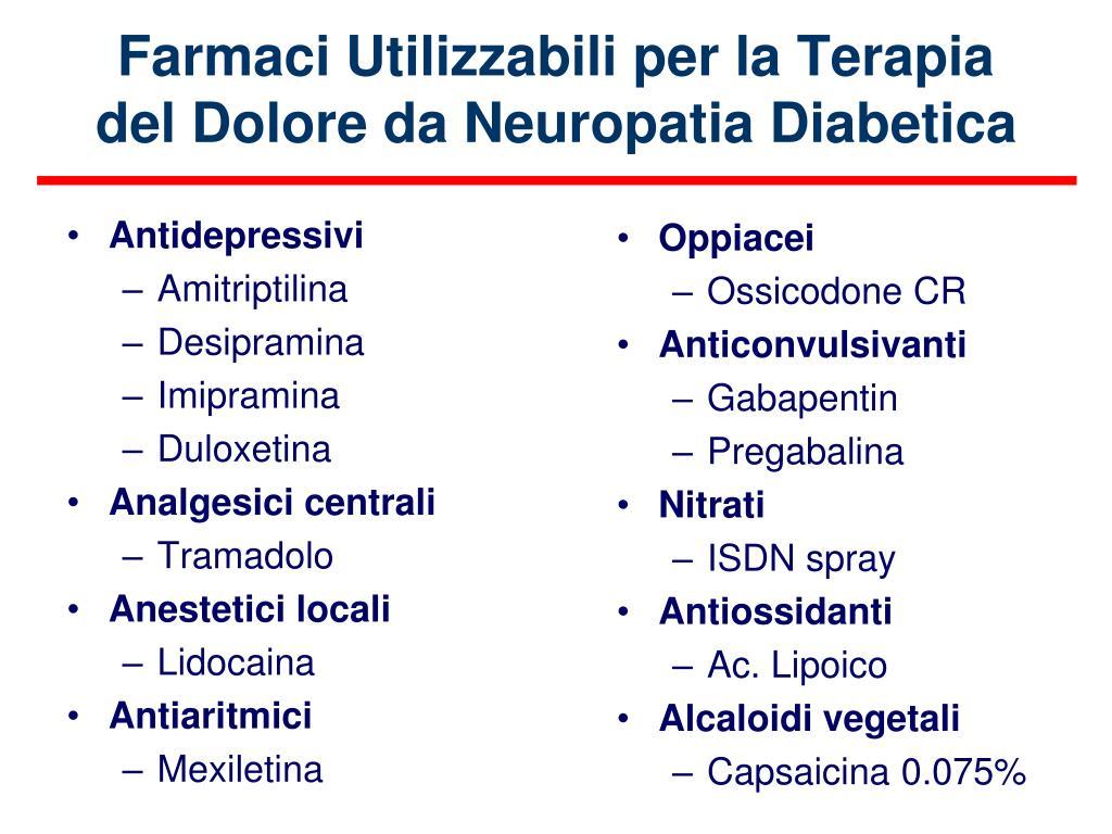 PPT - Le complicanze croniche del diabete: la neuropatia