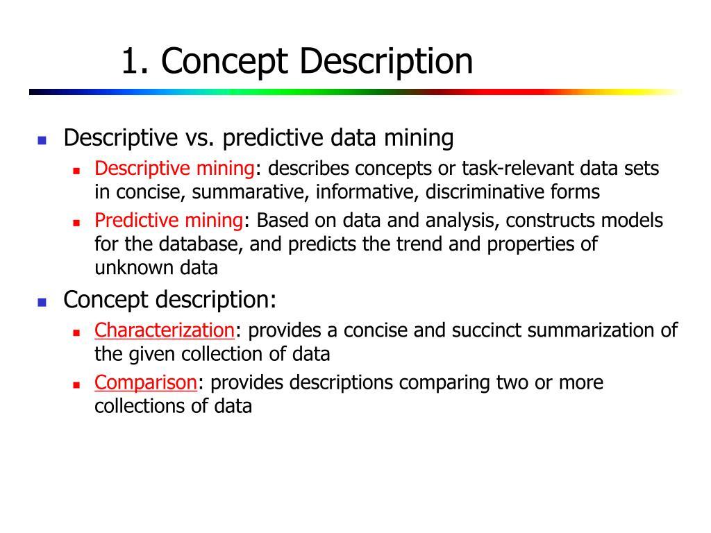 1. Concept Description
