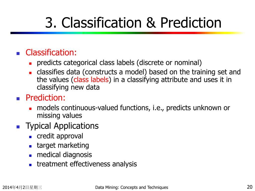 3. Classification & Prediction
