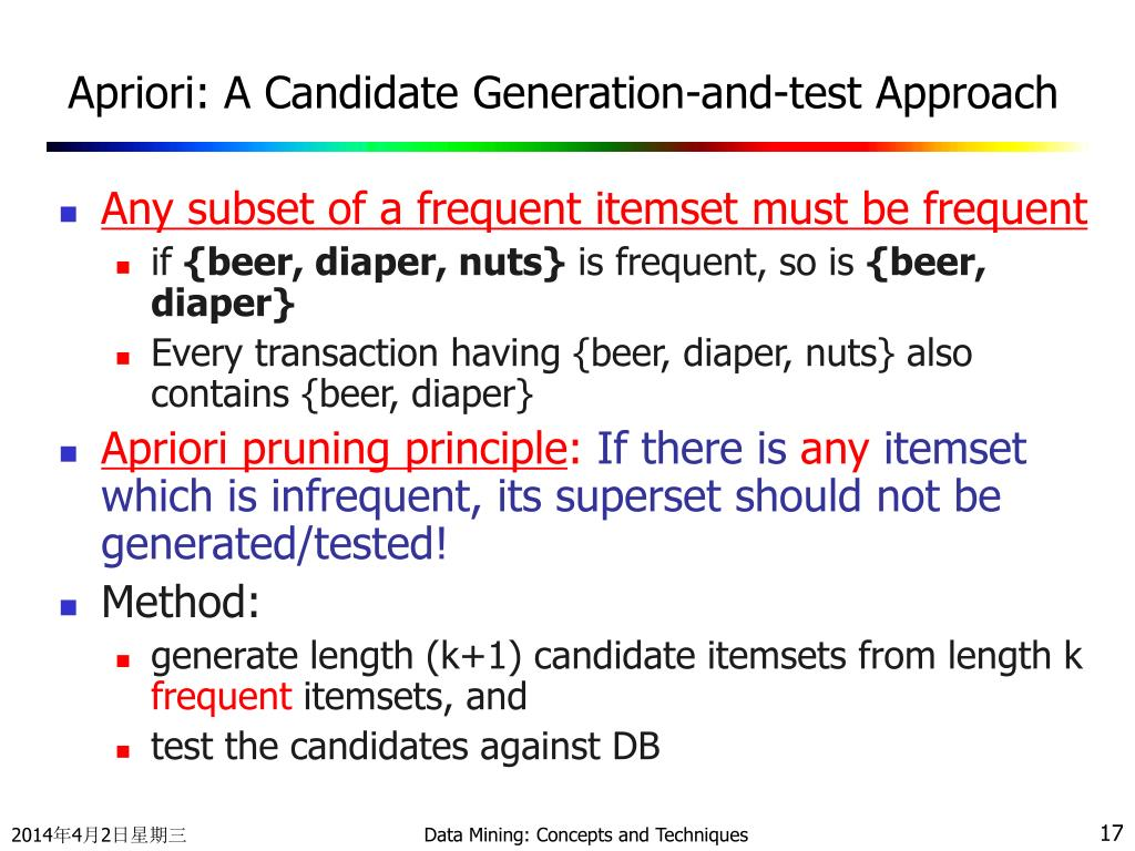 Apriori: A Candidate Generation-and-test Approach