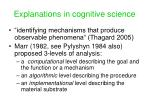 explanations in cognitive science