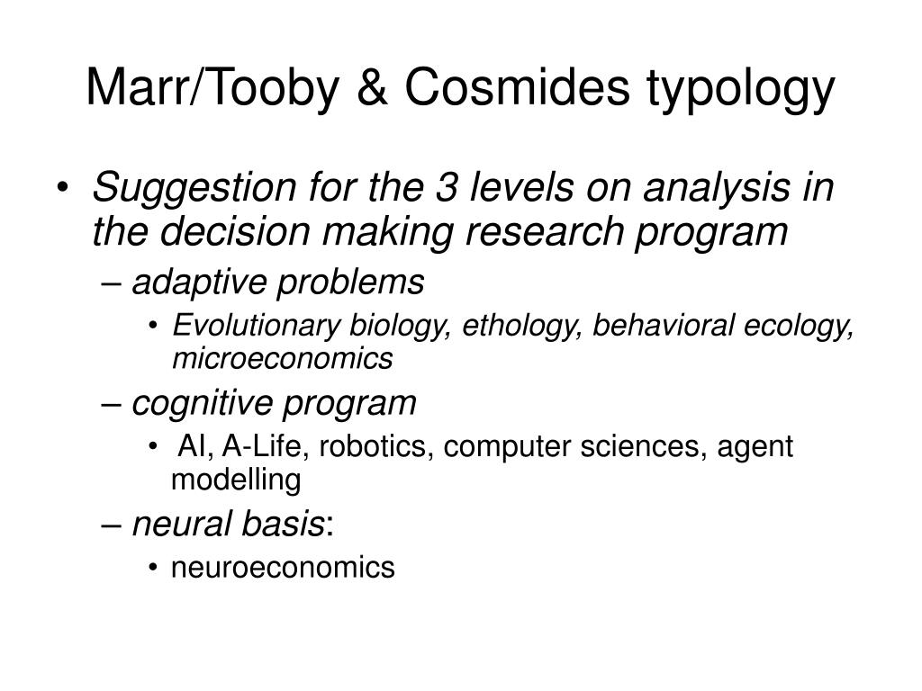 Marr/Tooby