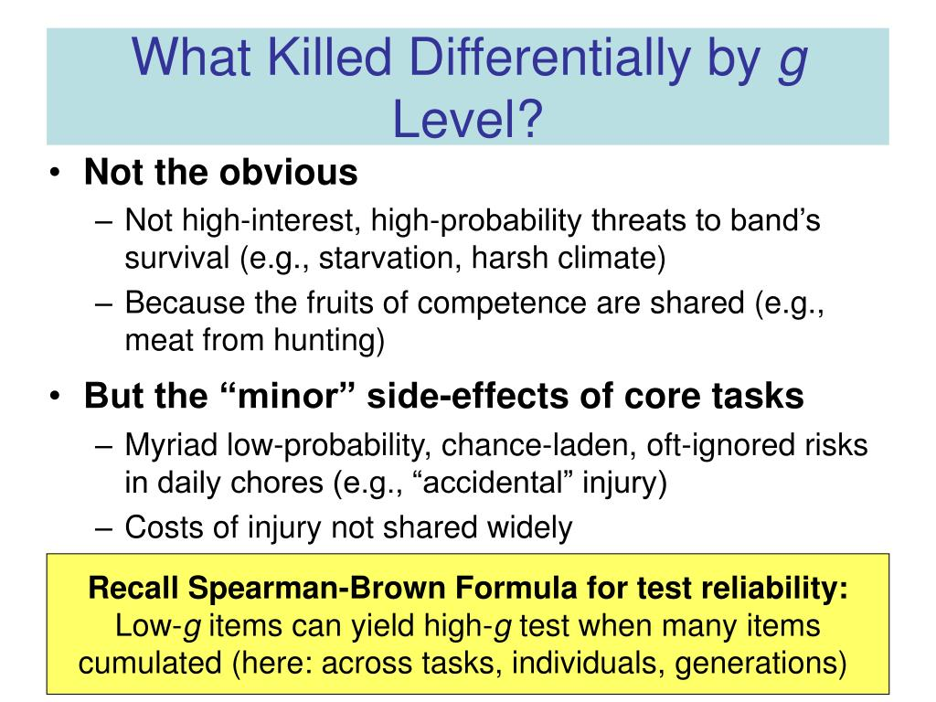 What Killed Differentially by
