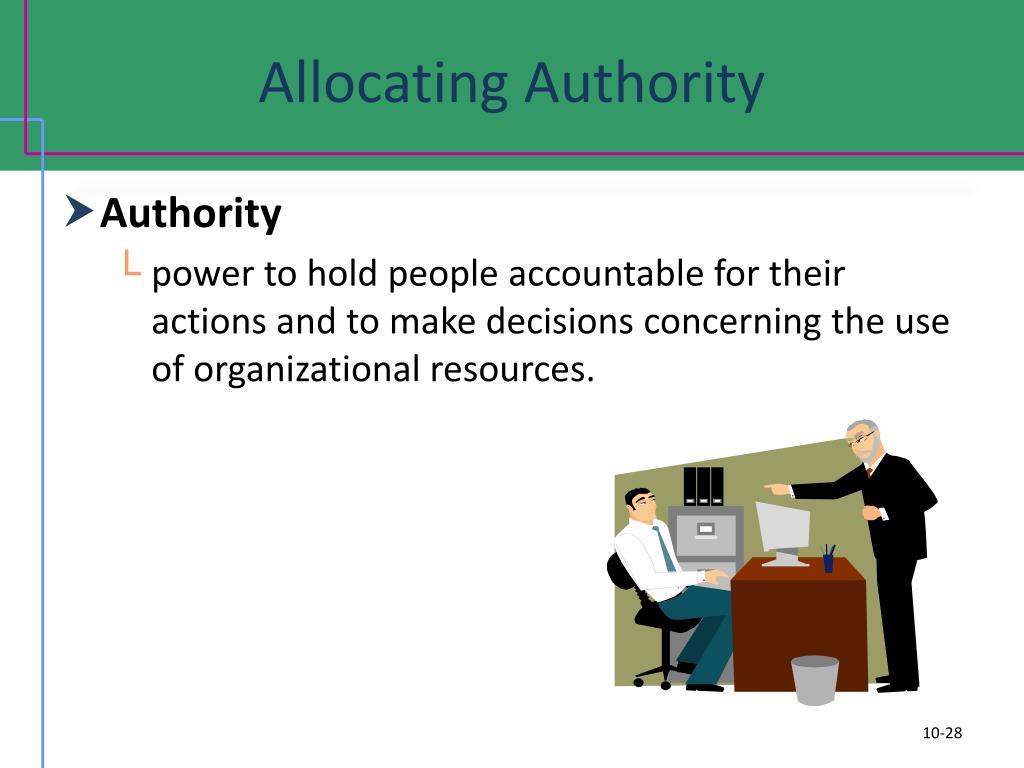 Allocating Authority