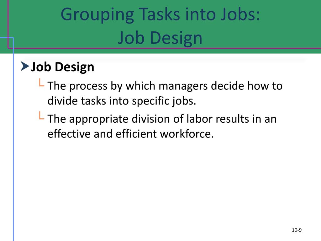 Grouping Tasks into Jobs: