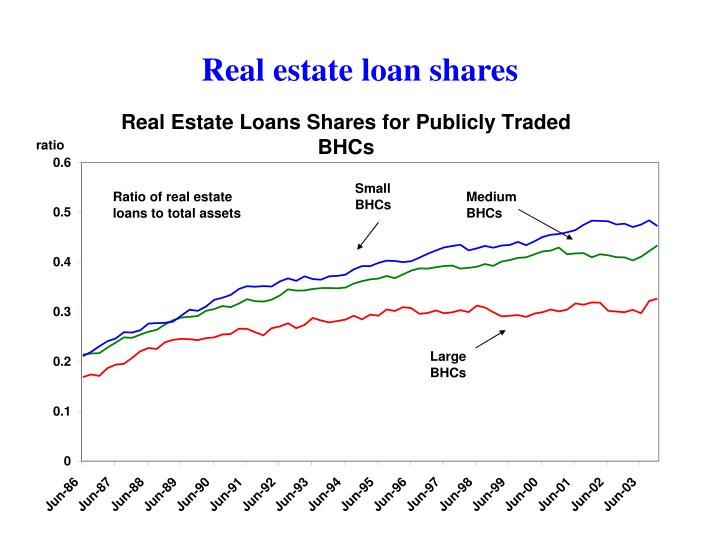 Real estate loan shares