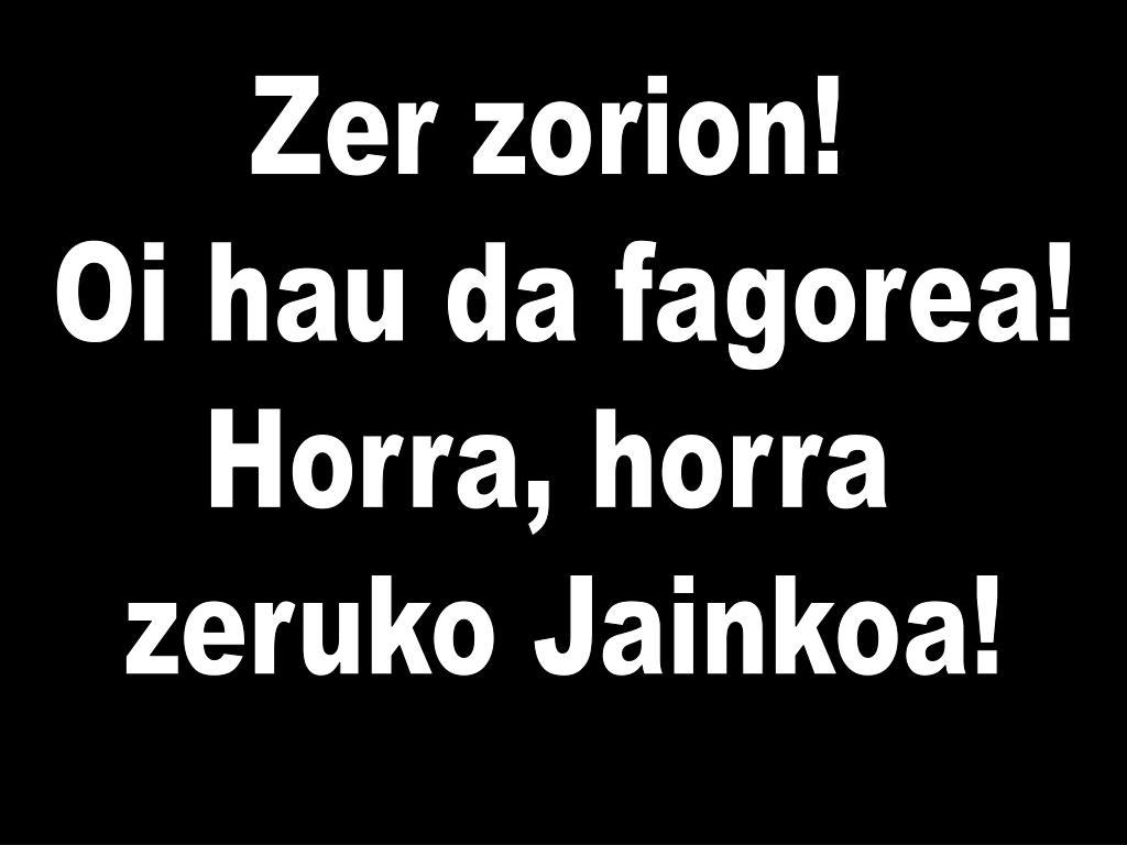 Zer zorion!