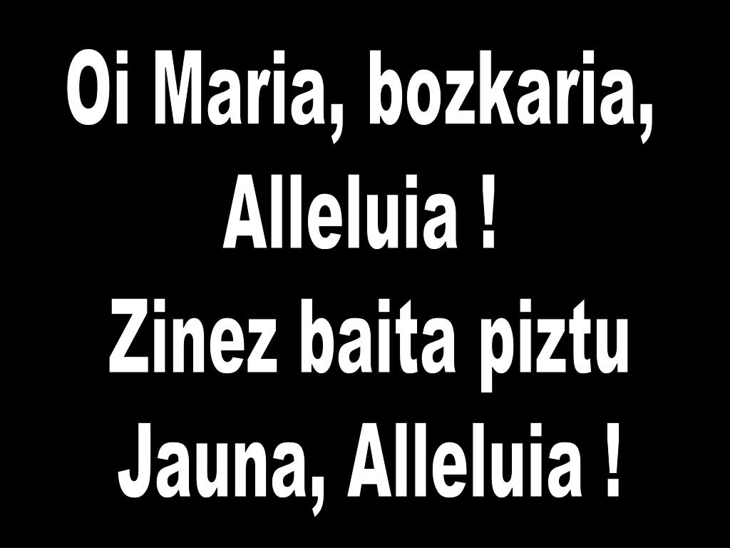Oi Maria, bozkaria,
