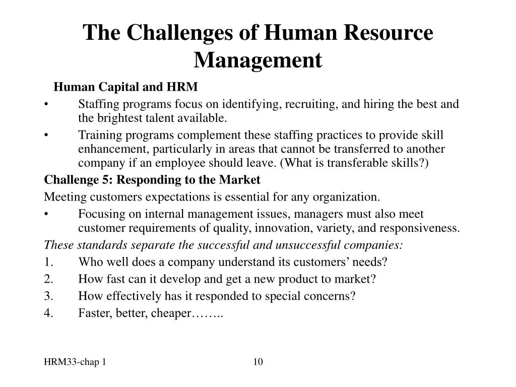 challenges in hrm Current issues series this document was digitized in 2013 as part of the queen's irc archive strategic human resources management: challenges and.