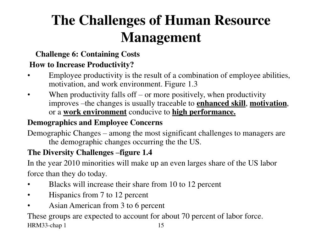 The Challenges of Human Resource Management
