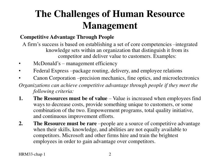 The challenges of human resource management2