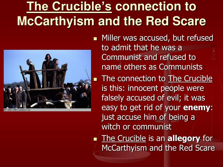 an overview of the salem and mccarthyism witch hunt trials The salem witch trials were a series of hearings and prosecutions of people accused of witchcraft in colonial massachusetts between february 1692 and may 1693 overview after someone concluded that a loss.