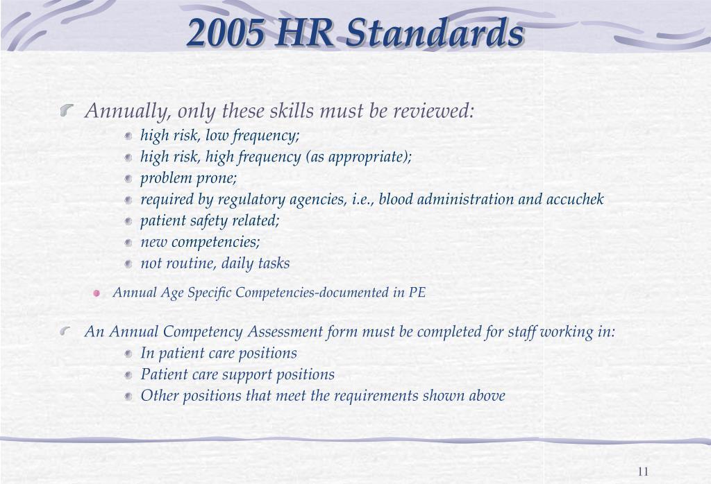 2005 HR Standards