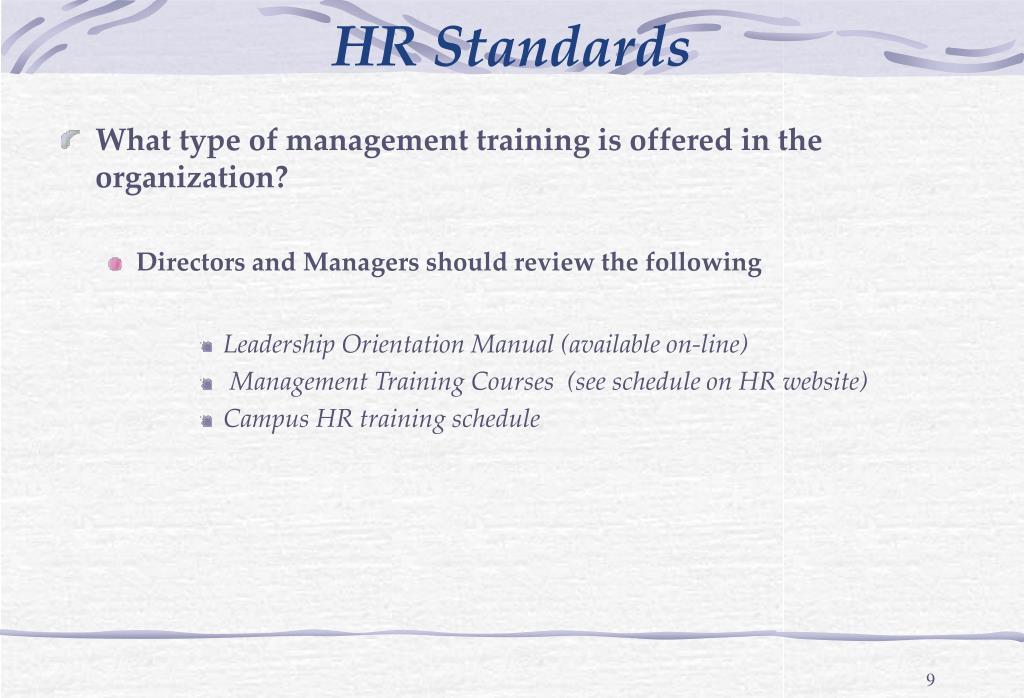 HR Standards