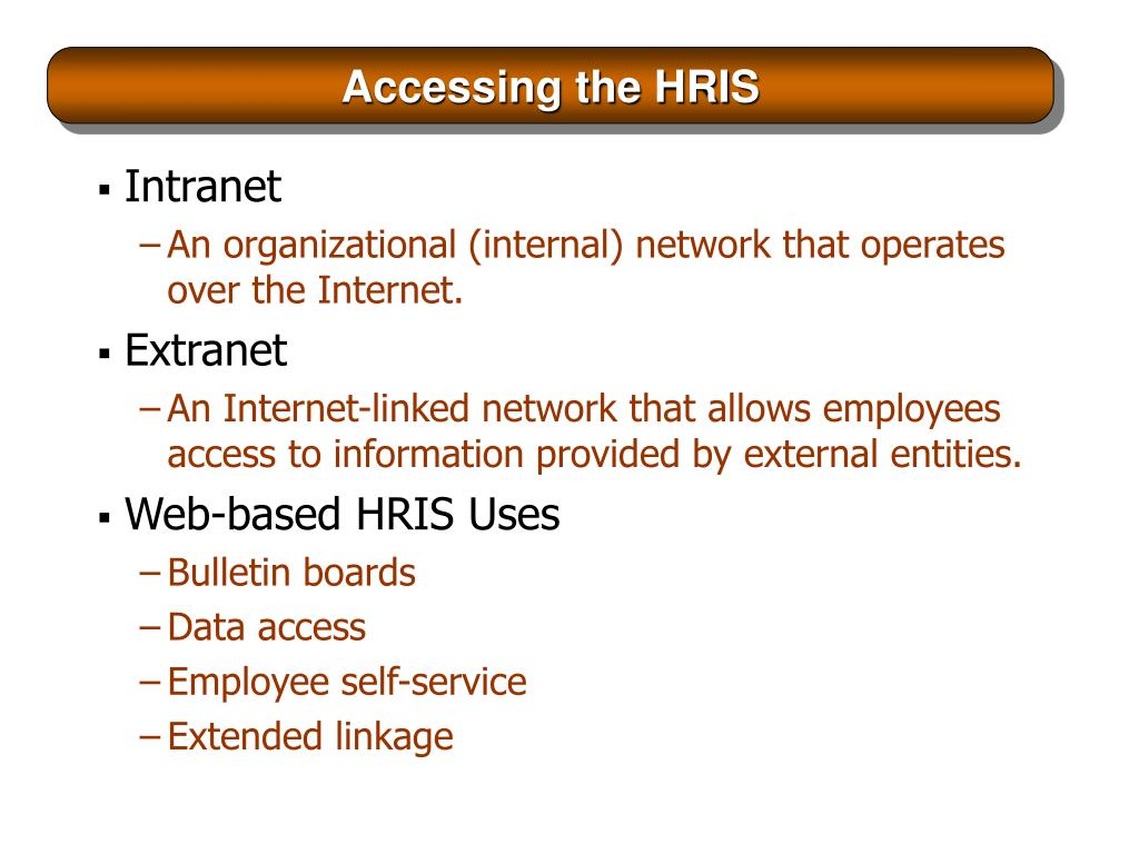 Accessing the HRIS