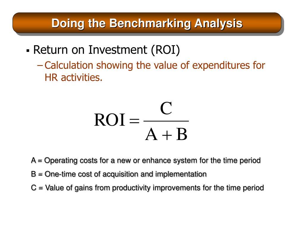 Doing the Benchmarking Analysis