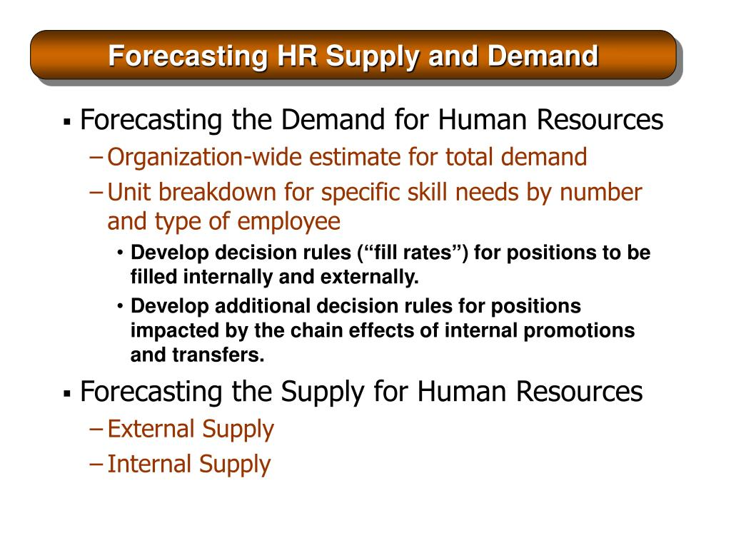 Forecasting HR Supply and Demand