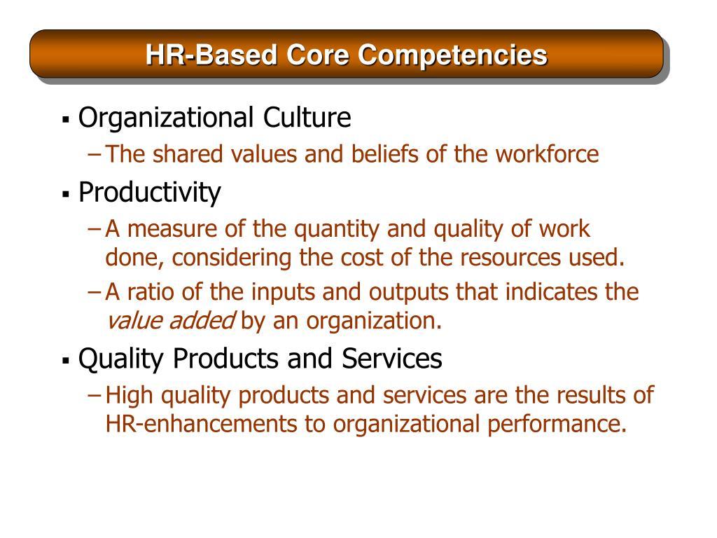HR-Based Core Competencies