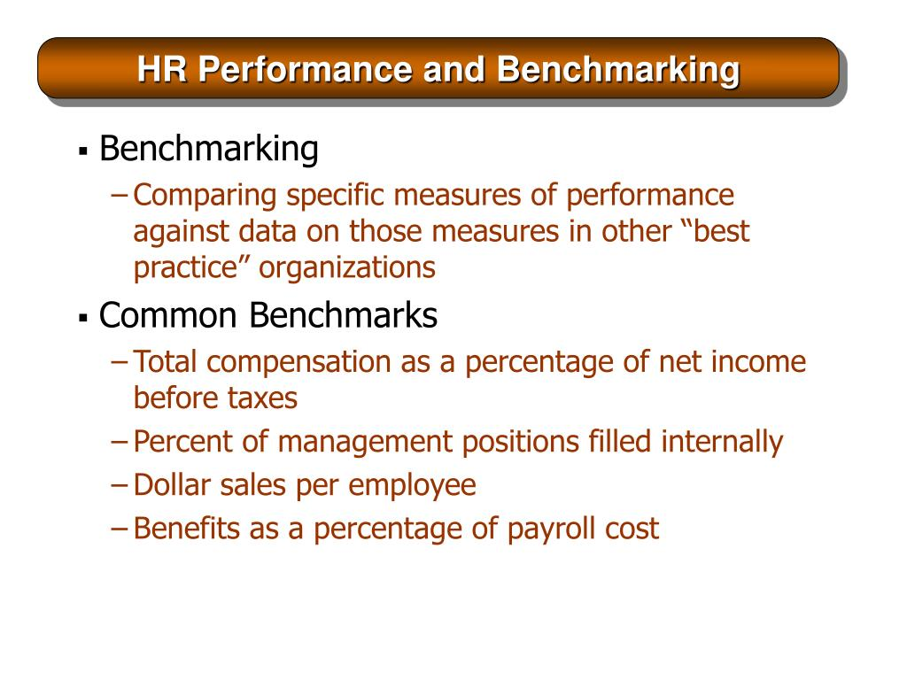 HR Performance and Benchmarking