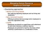 managing human resource surplus or shortage30