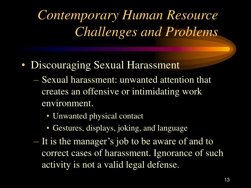 Contemporary Human Resource Challenges and Problems