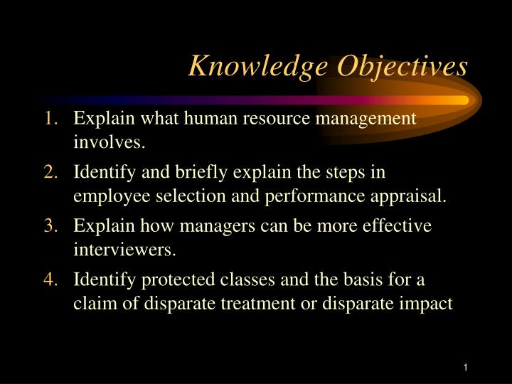 Knowledge objectives l.jpg