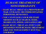 humane treatment of noncombatants